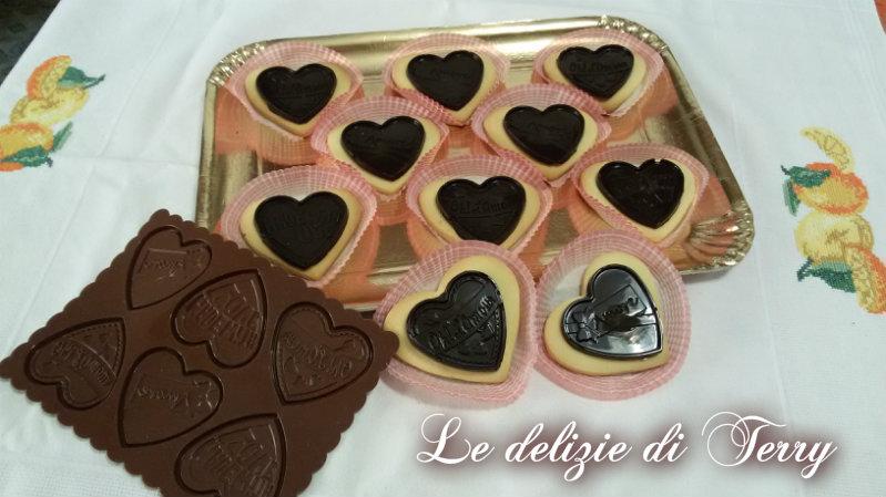 Ricetta biscotti cuore con cioccolato