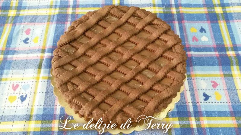 Ricetta crostata di pasta frolla al cacao e nutella