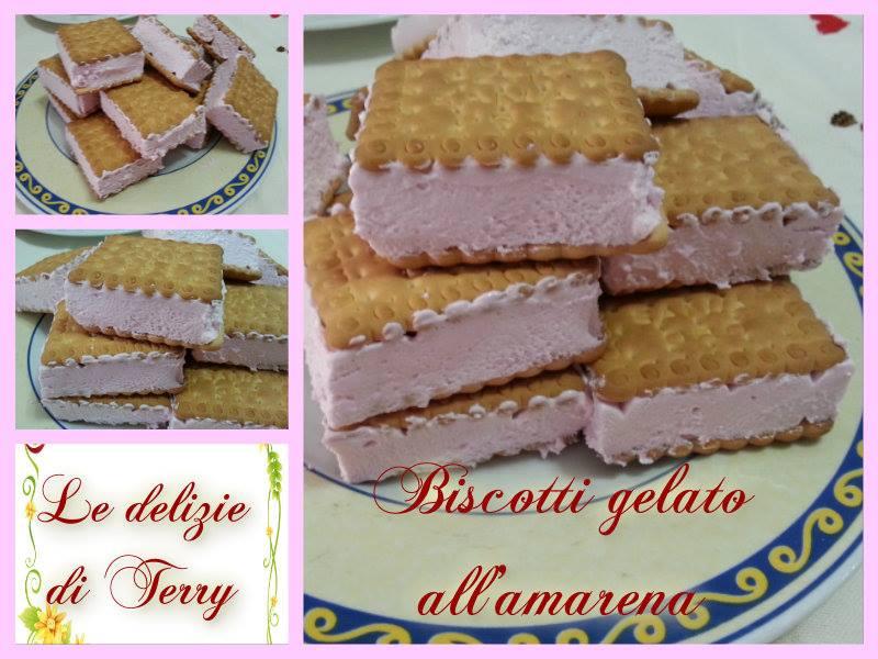 Ricetta gelati biscotto all'amarena