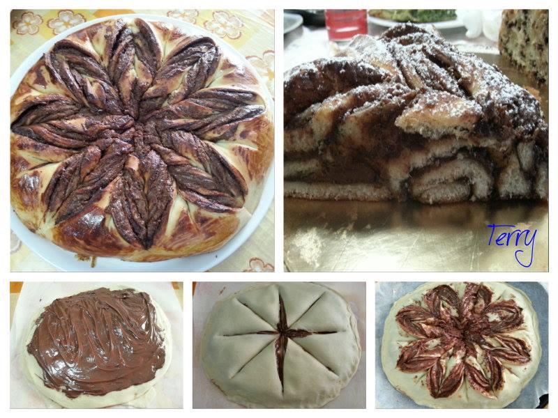 Ricetta fiore di pan brioche con nutella