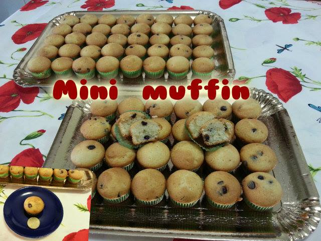 Ricetta mini muffin con gocce di cioccolato