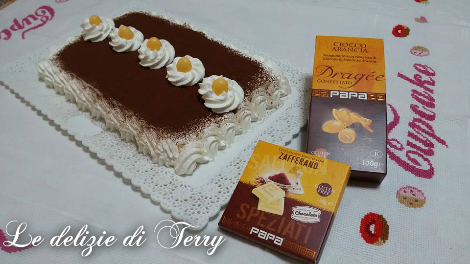 Ricetta trancio con frosting e cioccolato allo zafferano