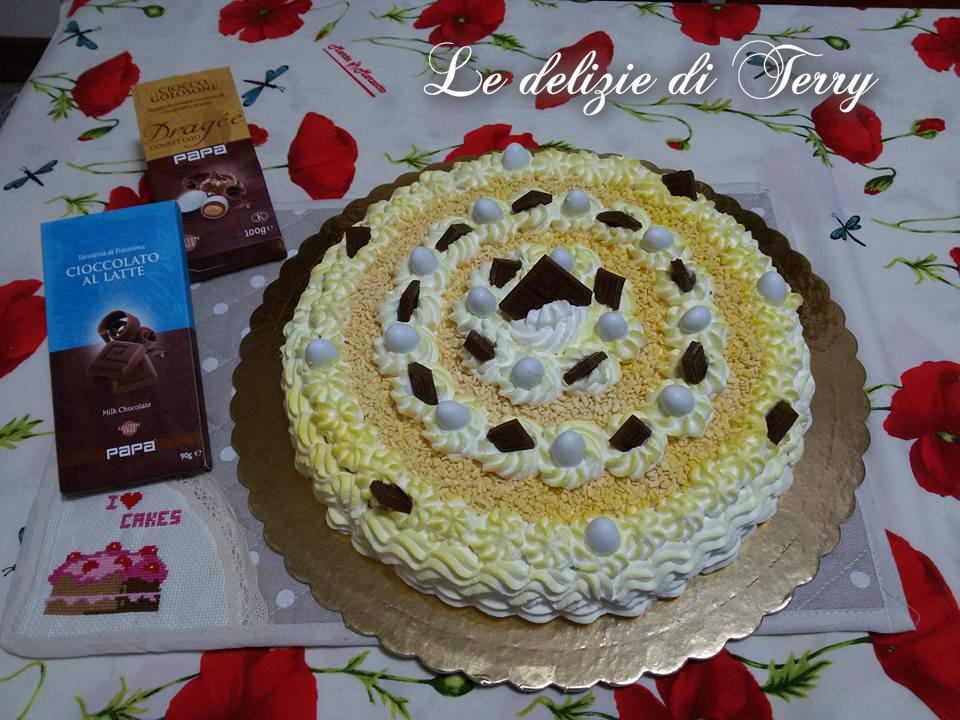 Ricetta torta con crema al cioccolato