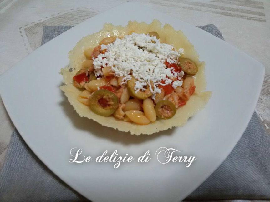 Ricetta crudaiola in cialda di parmigiano