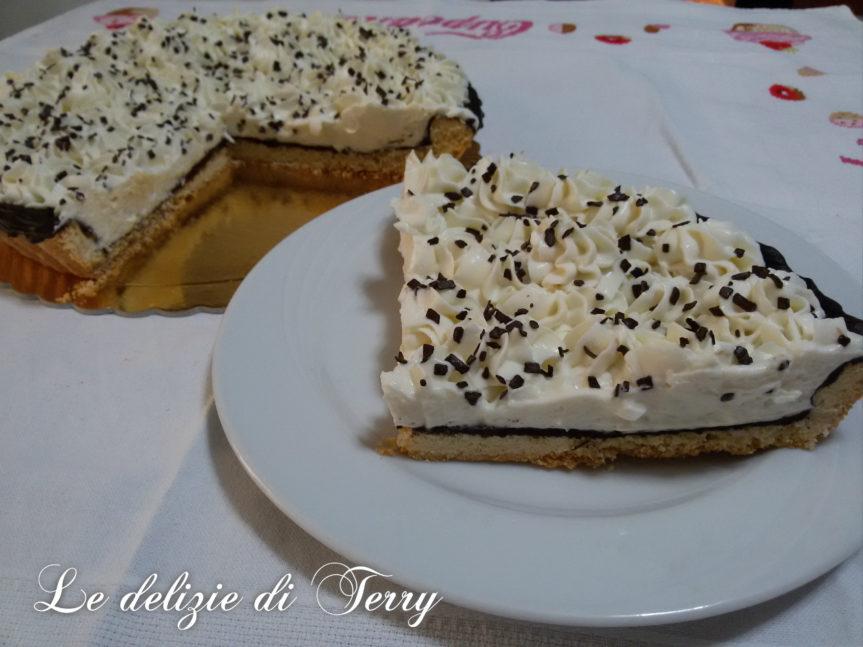 Ricetta crostata di pasta frolla , cioccolato e crema di ricotta