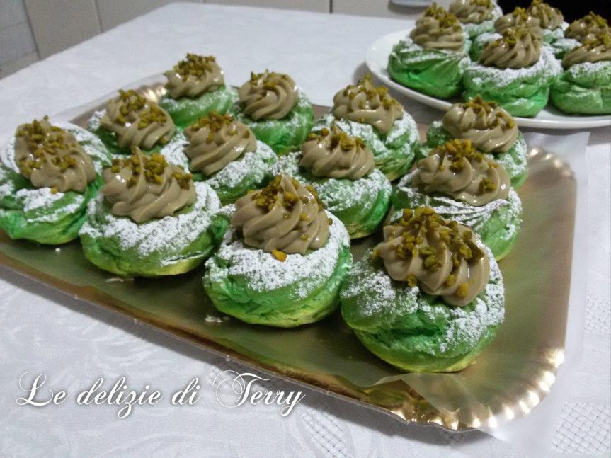 Ricetta zeppole con crema al pistacchio