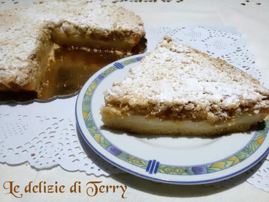 Ricetta sbriciolata di crema pasticcera e mele