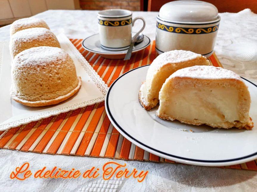 Ricetta cupolette di crema pasticcera